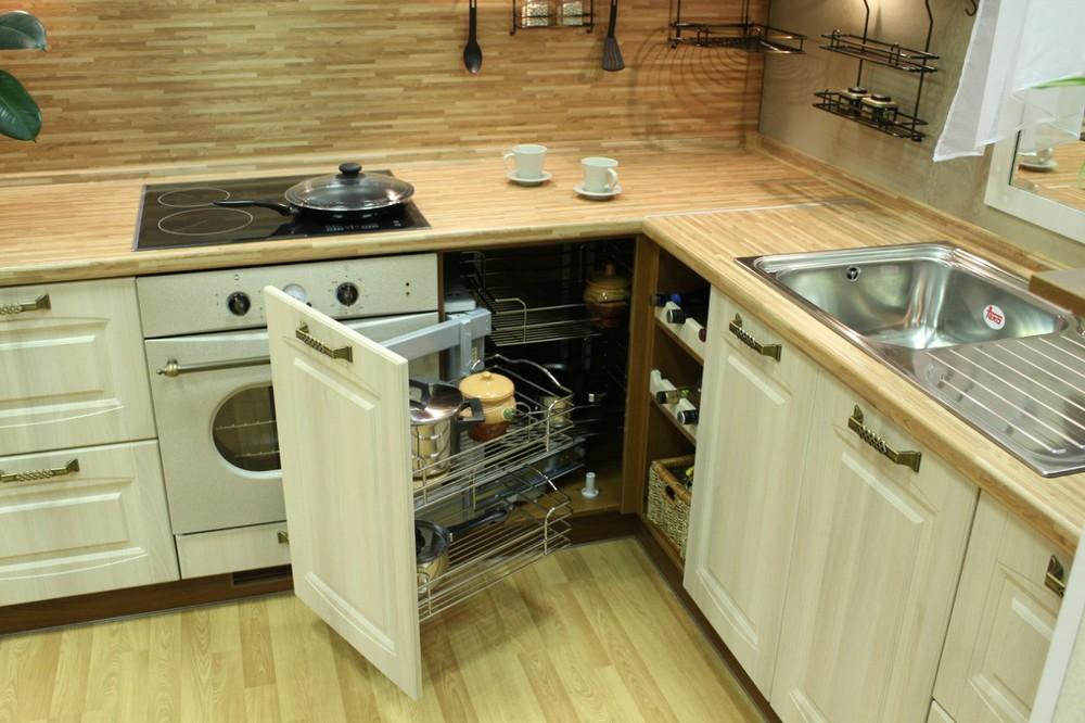 Белый кухонный гарнитур-Кухня МДФ в ПВХ «Модель 128»-фото11