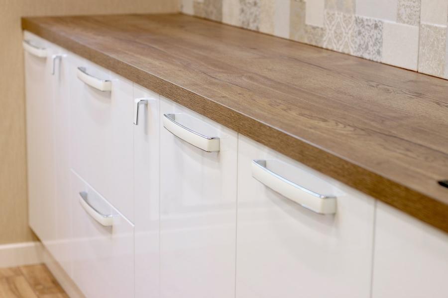 Белый кухонный гарнитур-Кухня МДФ в эмали «Модель 289»-фото8