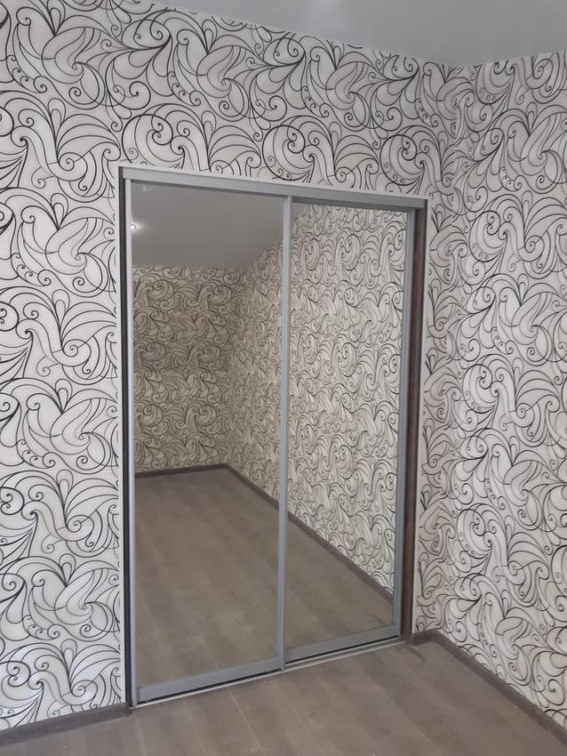 Бельевой шкаф-купе-Шкаф-купе с зеркалом «Модель 469»-фото1