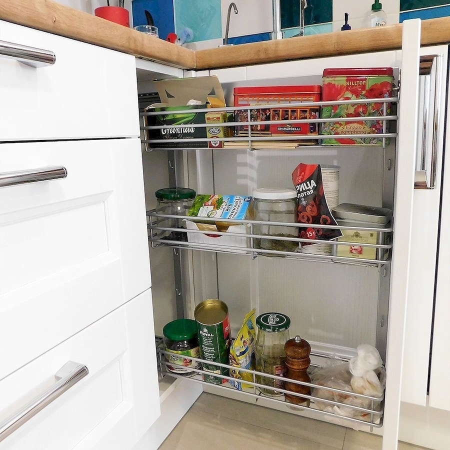 Белый кухонный гарнитур-Кухня МДФ в эмали «Модель 591»-фото7