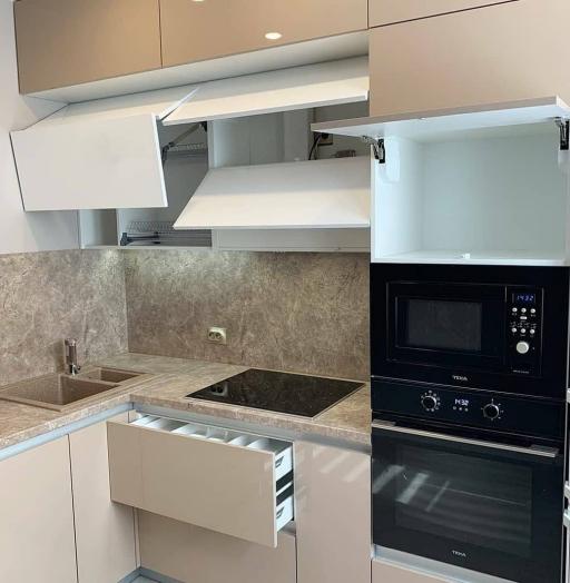 Бежевые кухни-Кухня из пластика «Модель 633»-фото5